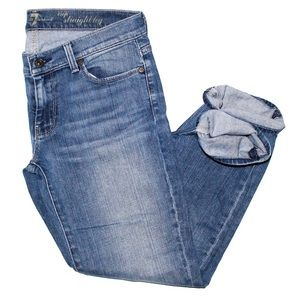 7 For All Mankind Straight Cropped Denim
